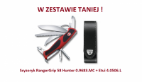 Scyzoryk Victorinox RangerGrip 58 Hunter 0.9683.MC + Etui 4.0506.L