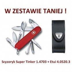 Victorinox Scyzoryk Super Tinker 1.4703 + Etui 4.0520.3