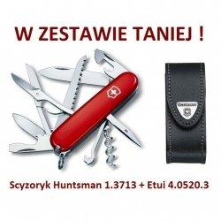 Victorinox Scyzoryk Huntsman 1.3713 + Etui 4.0520.3