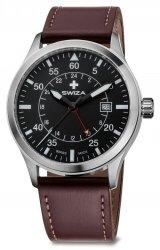 Zegarek SWIZA Siriuz GMT SST black-brown WAT.0352.1002