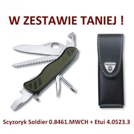 Victorinox Scyzoryk Soldier 0.8461.MWCH + Etui 4.0523.3