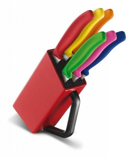 Victorinox komplet 6 noży do steków i pizzy w bloku SwissClassic 6.7126.6