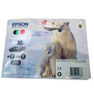 Zestaw tuszy Epson T2636 do XP-600/700/800 | 41,3ml | CMYK uszkodzone op