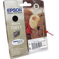Tusz Epson T0611 do DX-3800/3850/4200/48<br />00 , D-68/88 | 8ml | black uszk. op.