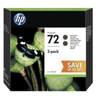 Tusz HP 2-Pack 72 Designjet T610/1100/1200/1300| 2x130ml | matte black