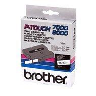 Taśma Brother laminowana 9mm x 8m  czarny nadruk / białe tło