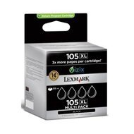 Tusz Lexmark 105XL do Pro 805/709/901/905 | zwrotny | black 4pack
