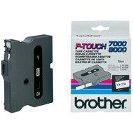 Taśma Brother laminowana  12mm x 8m biały nadruk / czarne tło
