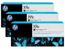 Zestaw trzech tuszy HP 771c do Designjet Z6200 | 3x775ml | Matte Black