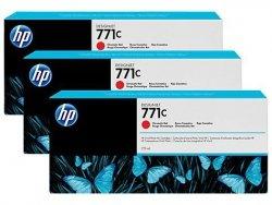 Zestaw trzech tuszy HP 771c do Designjet Z6200 | 3x775ml | Chromatic Red
