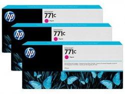 Zestaw trzech tuszy HP 771c do Designjet Z6200 | 3x775ml | Magenta
