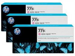 Zestaw trzech tuszy HP 771c do Designjet Z6200 | 3x775ml | Light Magenta