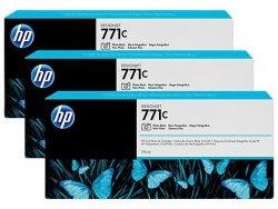 Zestaw trzech tuszy HP 771c do Designjet Z6200 | 3x775ml | Photo Black