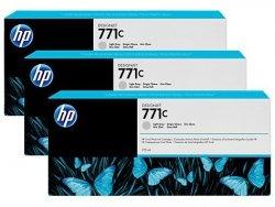 Zestaw trzech tuszy HP 711c do Designjet Z6200 | 3x775ml | Light Grey