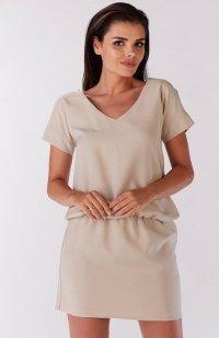 Awama A178 sukienka beżowa