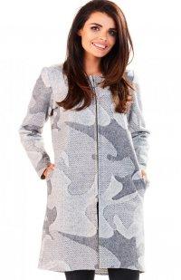 Awama A199 sweter szary mieszany