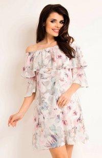Awama A167 sukienka jasne kwiaty