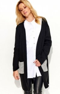 Makadamia S47 sweter czarny