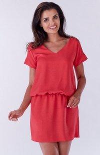 Awama A178 sukienka różowa