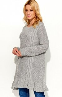 Makadamia S48 sweter szary
