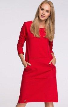 Makadamia M266 sukienka czerwona