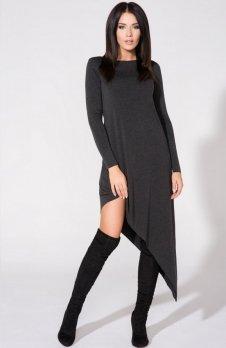 Tessita T152/1 sukienka ciemnoszara