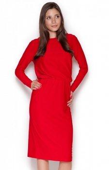 Figl M326 sukienka czerwona