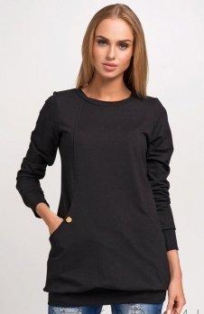 Makadamia M255 bluza czarna