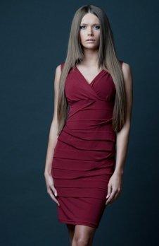 Vera Fashion Margo sukienka bordowa
