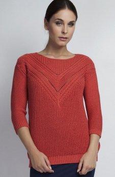 MKM SWE041 sweter koralowy