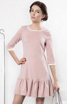 Kasia Miciak design sukienka z falbanką