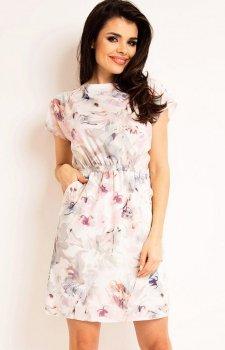 Awama A166 sukienka jasne kwiaty