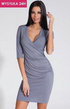 *Fobya F285 sukienka szara