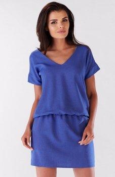 Awama A178 sukienka niebieska