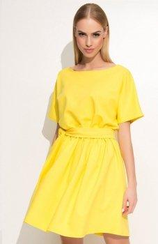 *Makadamia M334 sukienka żółta