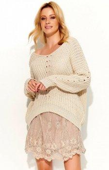 Makadamia S53 sweter beżowy