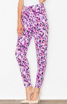 Figl M503 spodnie różowe cętki