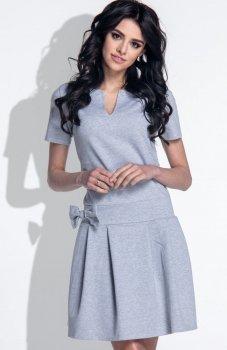Fobya F374 sukienka szara