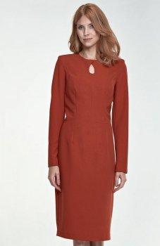 Nife S79 sukienka ruda