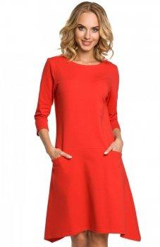 Moe M328 sukienka czerwona