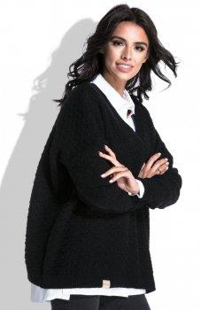 Fobya F449 sweter czarny