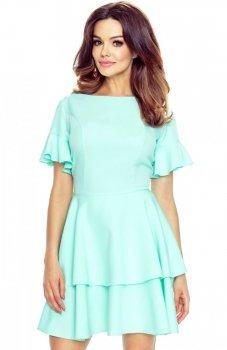 Bergamo 62-02 sukienka miętowa