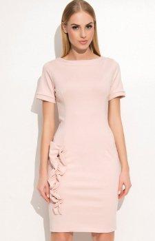 Makadamia M350 sukienka pudrowy róż