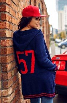 Envy Me EM606 sweter granatowy