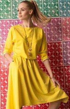 Makadamia M342 sukienka żółta