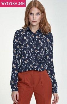 *Nife B70 koszula granatowe kwiaty