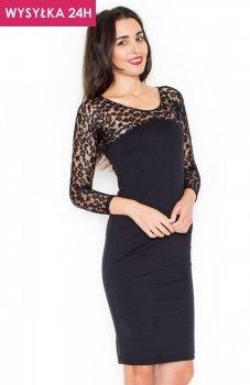 *Katrus K322 sukienka czarna