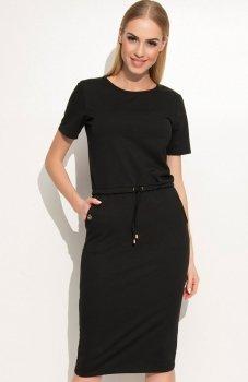 Makadamia M345 sukienka czarna