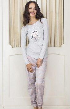 Esotiq Dolly 33515-09X piżama jasno szara