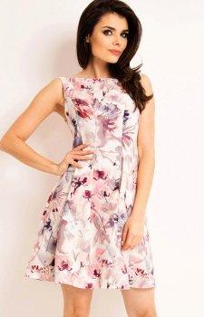 Awama A165 sukienka różowa